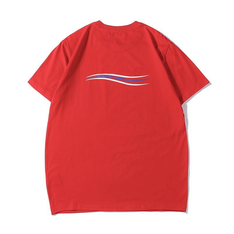 19ss delle magliette di lusso del progettista di modo di marca uomini donne coppie Cotton Shirt Designer Lettera casuale Stampa manica corta Tee