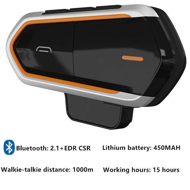2 pezzi del motociclo citofono di Bluetooth del casco auricolare Bluetooth con FM Musica vivavoce citofono del casco Communicator Walkie Talkie
