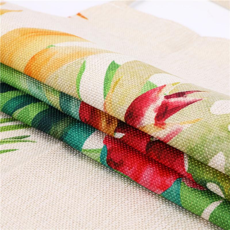 Mignon sirène imprimé manches Tabliers de cuisine femmes coton lin Pinafore Home Cooking Baking taille Bib 53 * 65cm WQL0157