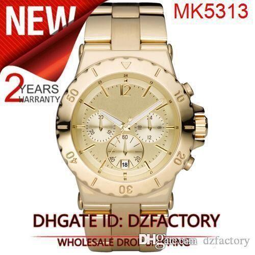 Drop shipping New MK5312 MK5313 MK5314 MK5409 MK5410 MK5462 MK5463 Satin Chronograph Lightweight Watch