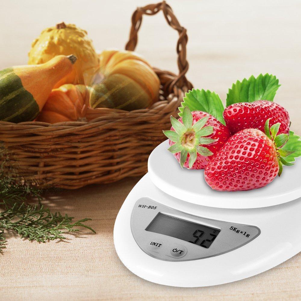 الميزان مقياس المطبخ 5KG / 1G الخلفية الرقمية العليا الآلات الدقيقة الالكترونية الموازين هوك المحمولة كغ الوزن الحمية الغذائية البريدي الميزان