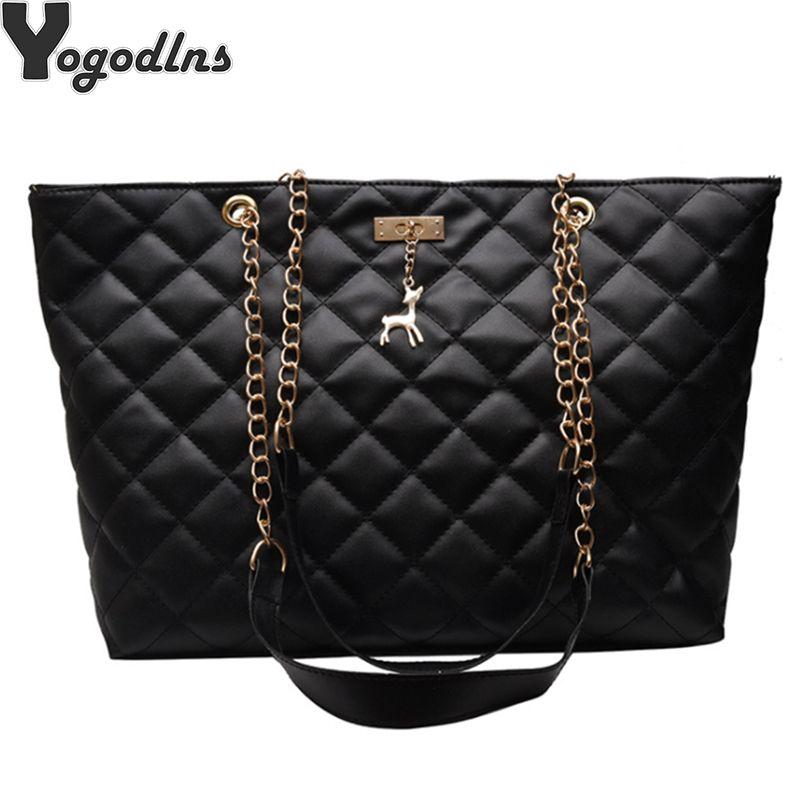 Fashion Brand Women Handbag PU Leather Large Shoulder Bag Fawn Metal Decoration Bag Ladies Big Casual Tote Bags CX200529