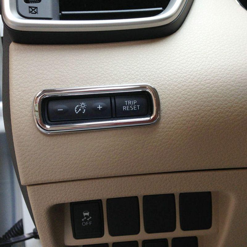 ABS 차량 전면 주행 스위치 버튼 커버 닛산 QASHQAI 악성 스포츠 2014-2020에 대한 1PCS 트림