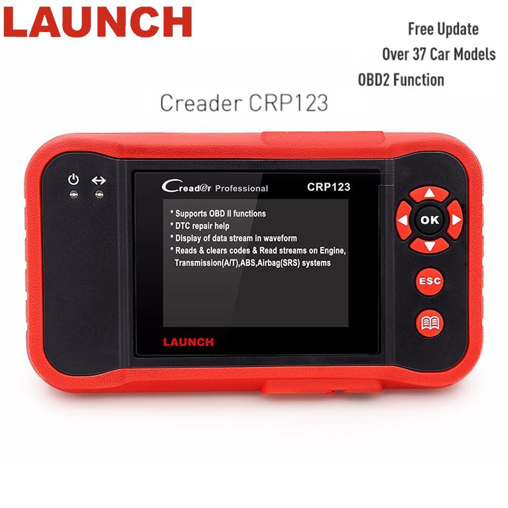 Genuine Launch Creader CRP 123 obd 2 Code Reader Auto Diagnostic Tool Free Update Engine/ABS/SRS/AT X431 Scanner PK Creader vii+