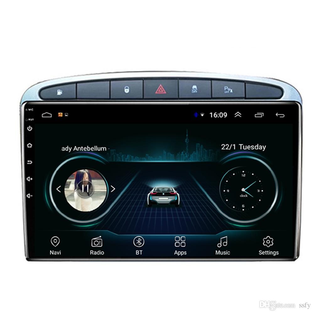 Android car mp3 mp4 player HD 1080 beautiful wallpaper smooth music clear camera fast delivery for peugeot 308 wu H 9inch