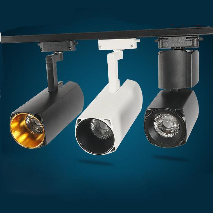 Fanlive 20 pçs / lote 20 w 30 w Cob Trilho Spot Light Luzes AC85-265V Moderna Teto Casa Deco pista