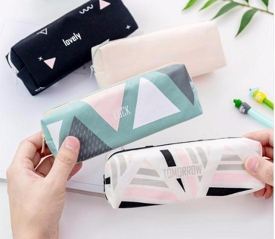 2019 Women Travel Cosmetic Makeup Brush Bag Zipper Pencil Make Up Organizer Storage Pouch Toiletry Box