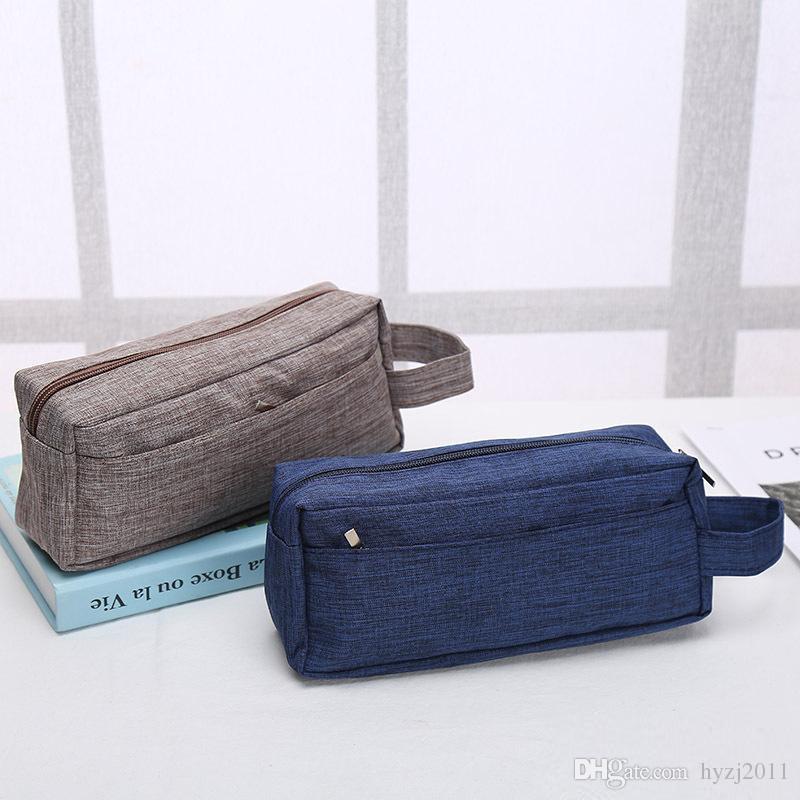 Old Cobbler accord direct logo personnalisé cosmétique Sac Washed tissu extérieur Zipper sac à main le sport mode Sac de rangement gros sac de lavage
