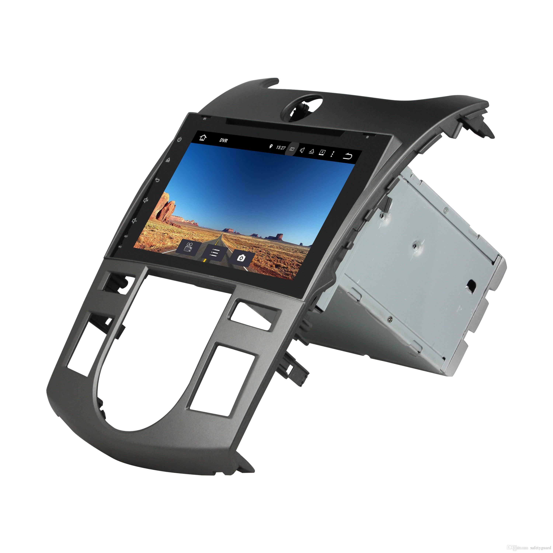 IPS Android 8.0 Octa Core 2 din 8 Car DVD Radio GPS لكيا فورتي سيراتو 2008 2009 2010 2011 4GB RAM WIFI Bluetooth USB Mirror link