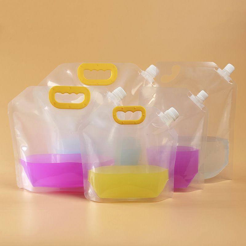 처분할 수 있는 맥주 가방 휴대용 밀봉 플라스틱 쥬스 우유를 부대를 포장하는 투명한 액체 포장 부대 1.5L/2.5L/5L