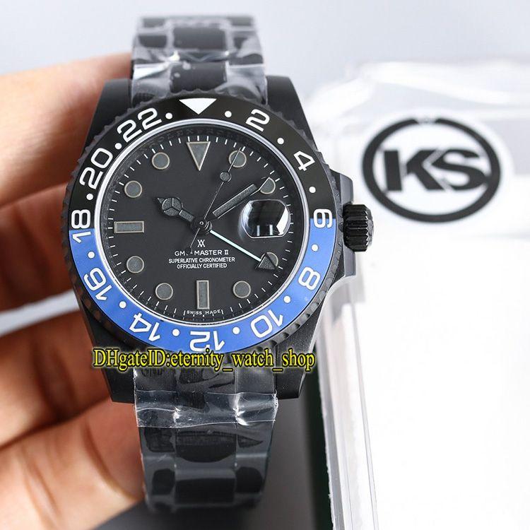 KS İyi versiyonu m126710blnr-0002 126710BLRO GMT ETA 2836-2 Otomatik Hareket 116719 ERKEK KOL Siyah Kasa Safir Lüks Tasarımcı Saatler