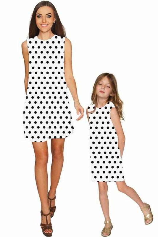 Red Polka dots dress mommy and me outfits matching mommy and daughter