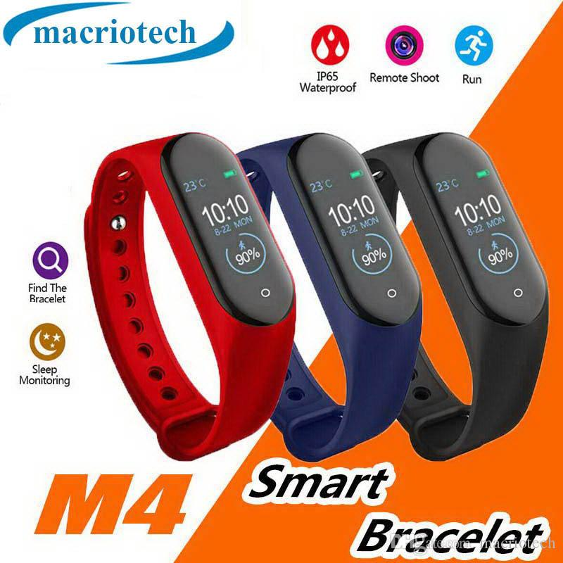 New Hot M4 intelligente Band bracelet Fitness Tracker Montre Sport Montre de fréquence cardiaque intelligent 0,96 pouces Smartband Health Monitor Wristband