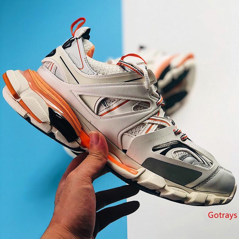 Pista Di Rilascio 3.0 Tess S Parigi Uomini Gomma Maille Nero Donne Triple S Goffo Sneakers Scarpe Casual Hot Autentico Scarpe Firmate 36-45