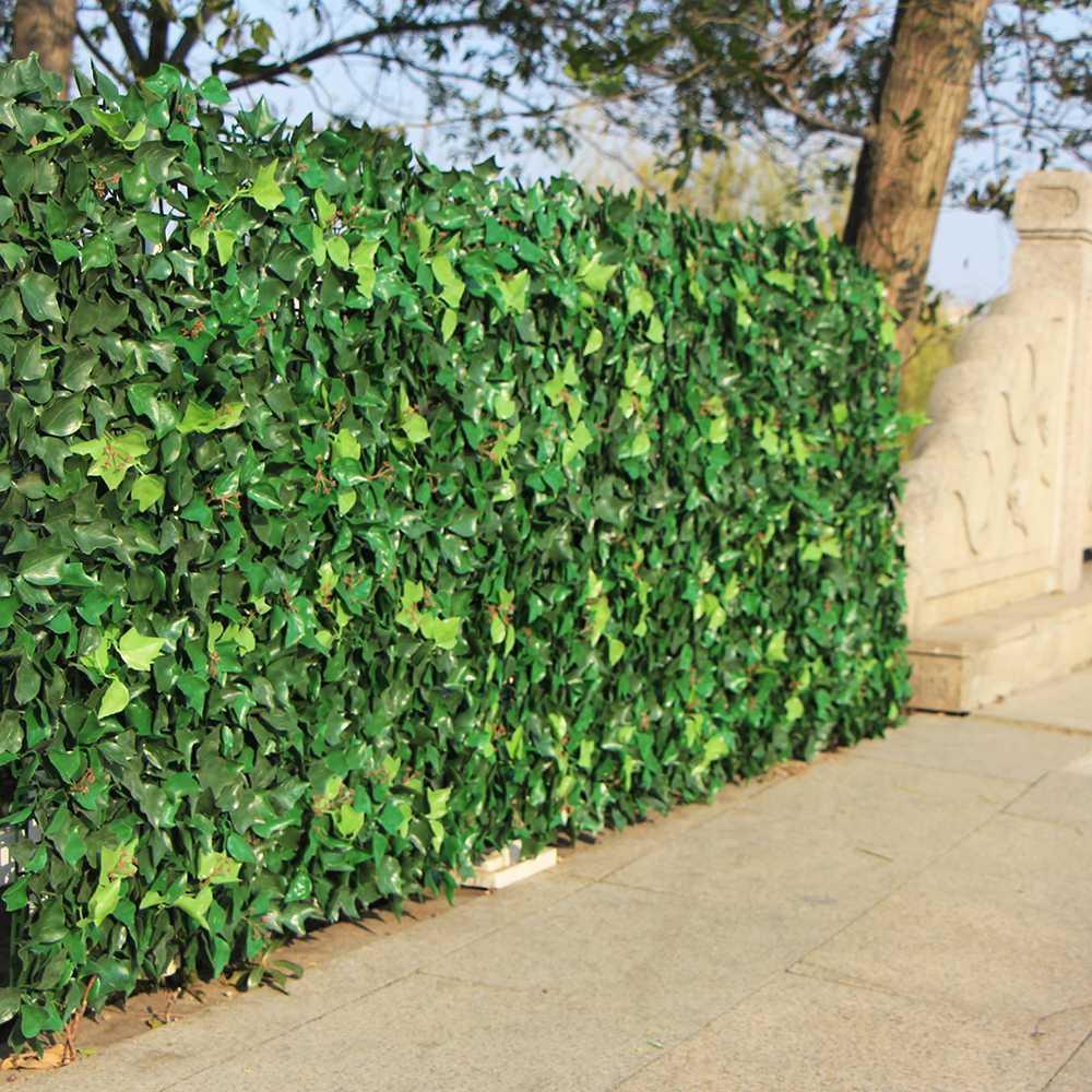 Finta Siepe In Plastica.Acquista Siepe Artificiale Foglie Piante Edera Finta Muro 10 X10