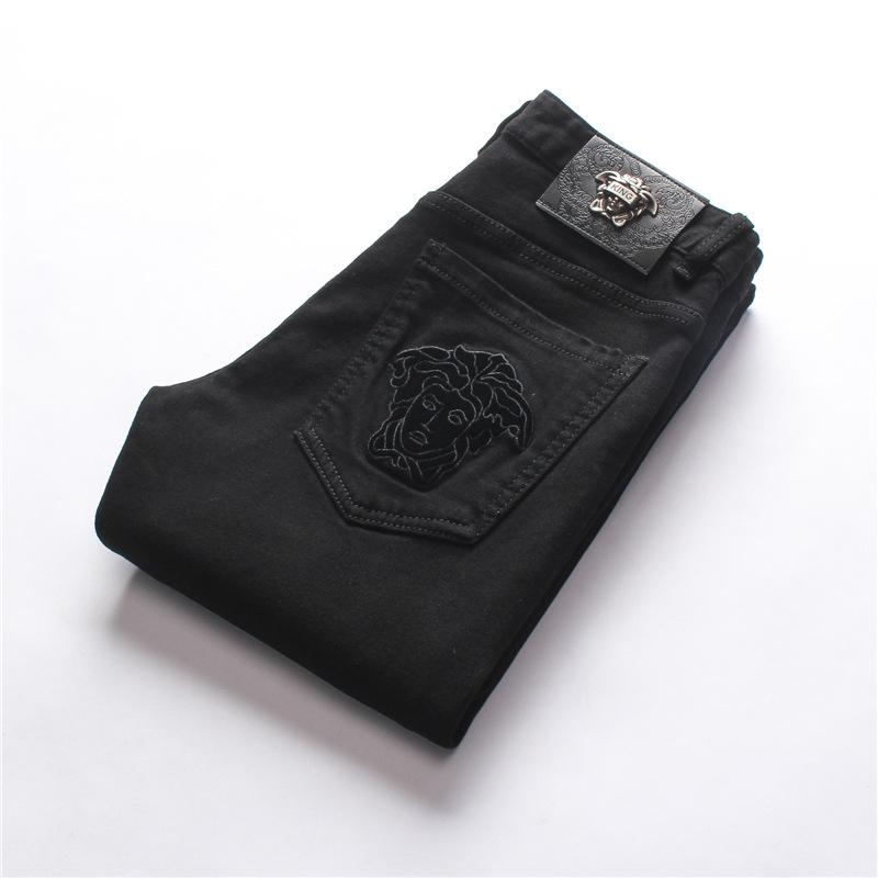 Desgaste dos homens Top Quality Design original Moda masculina jeans reta calças slim e confortáveis Jeans Elastic
