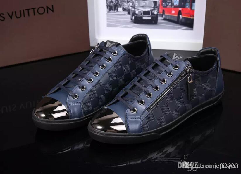 2020 nuovi pattini di sport per scarpe di cuoio casuali degli uomini Scarpe da ginnastica bilanciati Leggero Outdoor maschile a piedi da ginnastica scarpe da tennis degli uomini di no b