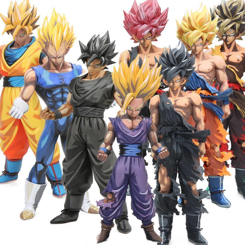 Master Stars Piece 23-34cm Manga Dimensions Dragon Ball Z Vegeta Son Goku Son Gohan PVC Action Figure MSP Model Dolls brinqudoes MX191105