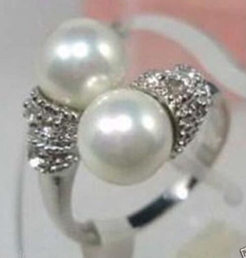 Kadın Hediye kelime Aşk nakliye nakliye kadınlar için ayar-gümüş-takı Beyaz Inci Gümüş Yüzük Boyutu 7,8, 9 yüzükler mujer moda