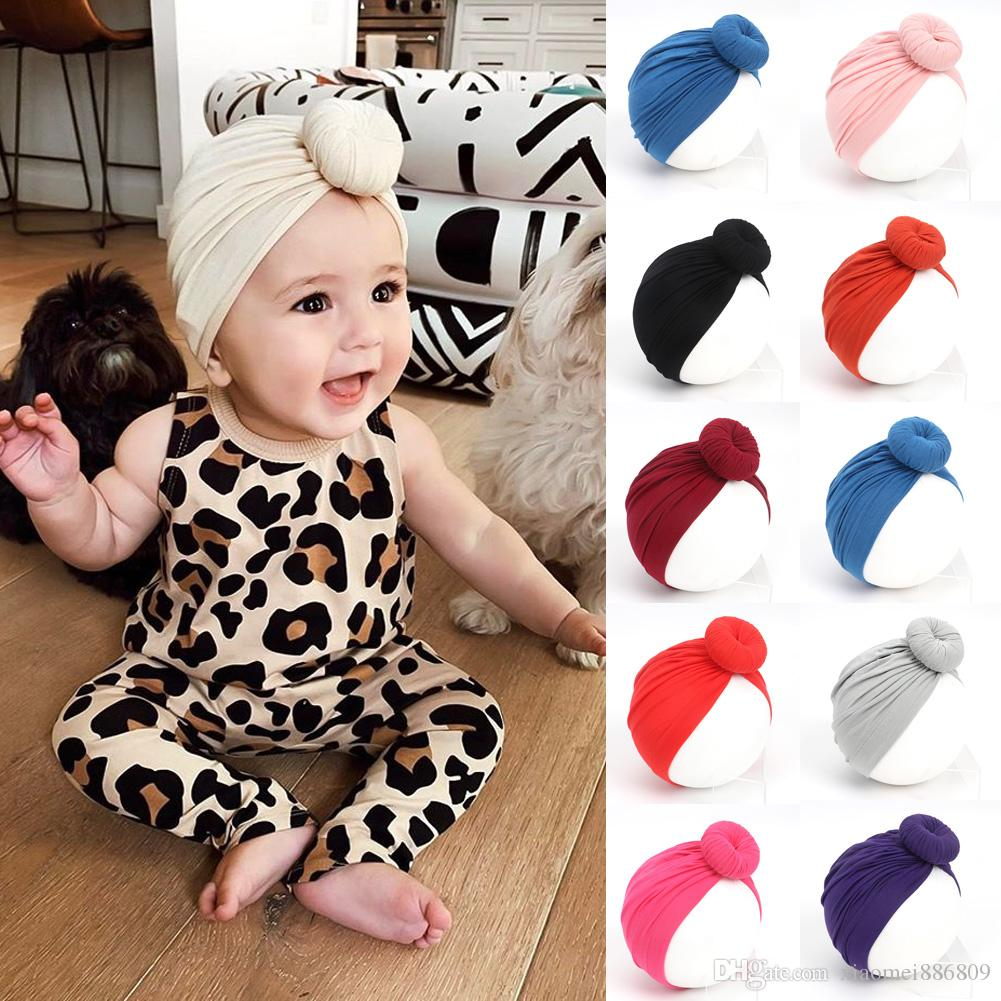 Newborn Toddler Kid Baby Girls Solid Knot Turban Headband Headwear Accessories