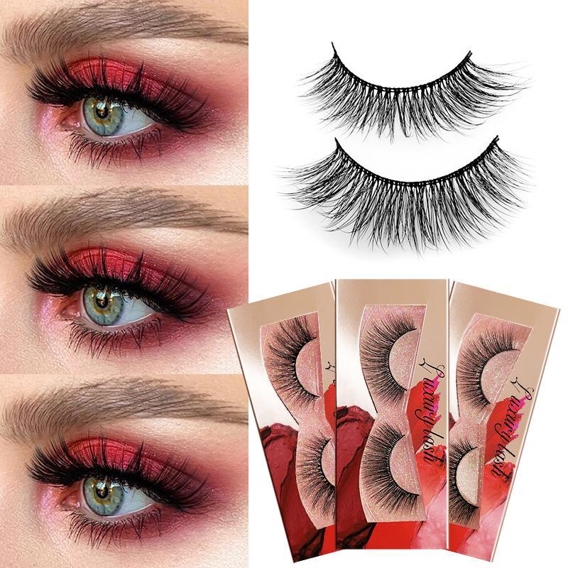 3D Cils Mink Lashes main maquillage complet Strip Lashes Cruelty Free Lash luxe Vison Cils Pour Maquiagem Cilio Faux Cils