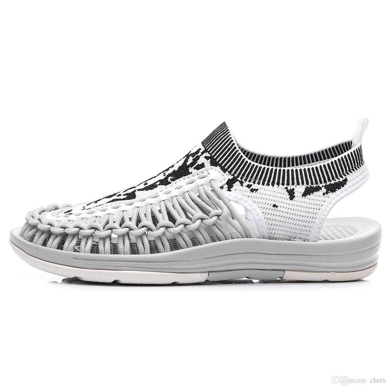 35-40 Womens rete a maglia fitta sandalo signore della molla sandalo scarpe da spiaggia maglia tacchi delle scarpe di colore della miscela novità elastiche sandalo sneaker Z10