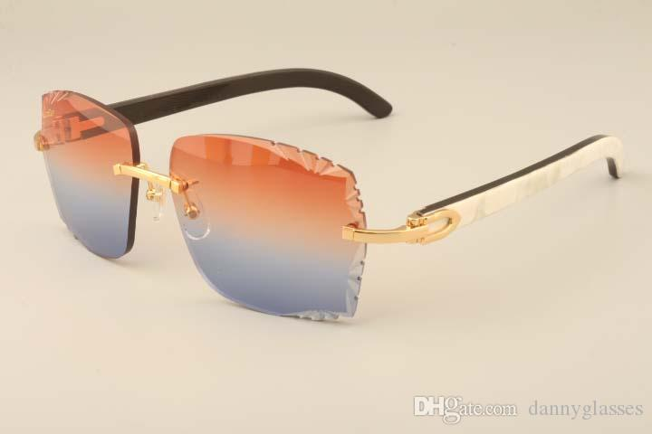 Nova fábrica de luxo direta de moda óculos de sol 3524014 chifre misturado naughty high-end lentes de óculos de sol gravura, costume privado, nome gravado
