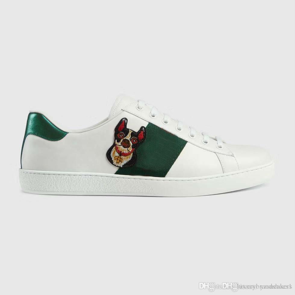 Compre GUCCI Zapatos Casuales De Moda 2019 De Las Mujeres De Cuero Reales  Calientes De Las Mujeres Planas Zapatos De Los Hombres Deportivos Zapatos