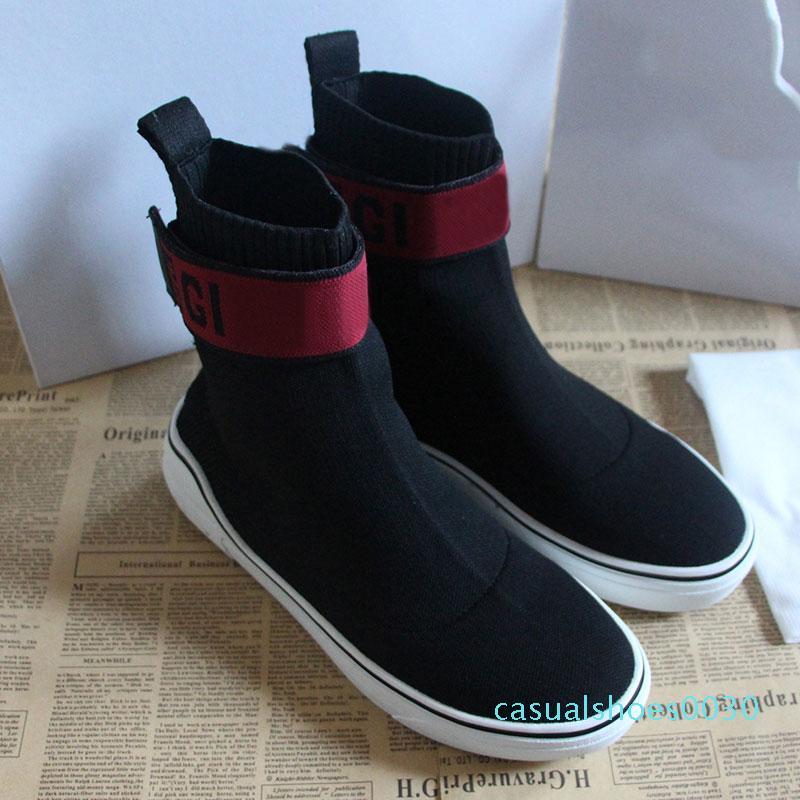 Socken-Designer-Schuhe neue Mens Geschwindigkeit Paris Berühmter Designer-Turnschuhe weißen Buchstaben bester Qualität Designer hohe Socke Schuhe für Frauen c30