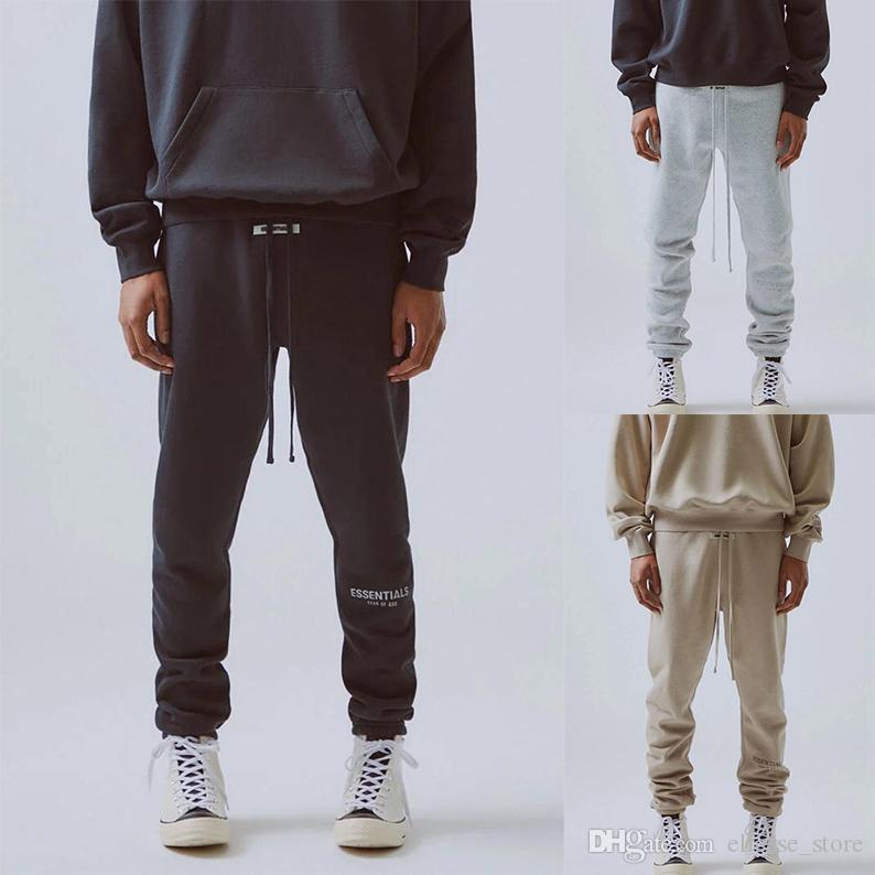 I nuovi pantaloni Mens 19FW Essentials Via Pant per Man FOG riflettente Sweatpants Mens Hip Hop Streetwear