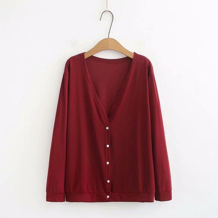 Blusas das mulheres Camisetas Plus Size Mulheres Casuais Corte de cabelo usado Tops Long Mouw Fino Ar Condicionado Coletes