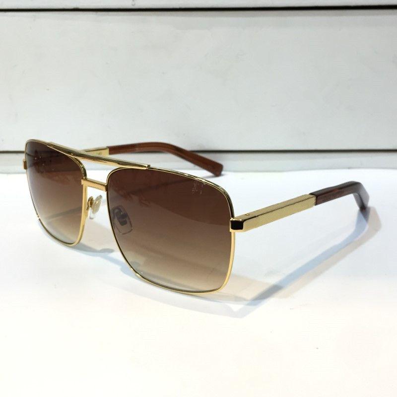 النظارات الشمسية موقف الكلاسيكية للرجال ساحة معدن الذهب الإطار UV400 للجنسين خمر النمط الشعبي 0259 النظارات الشمسية نظارات حماية مع صندوق