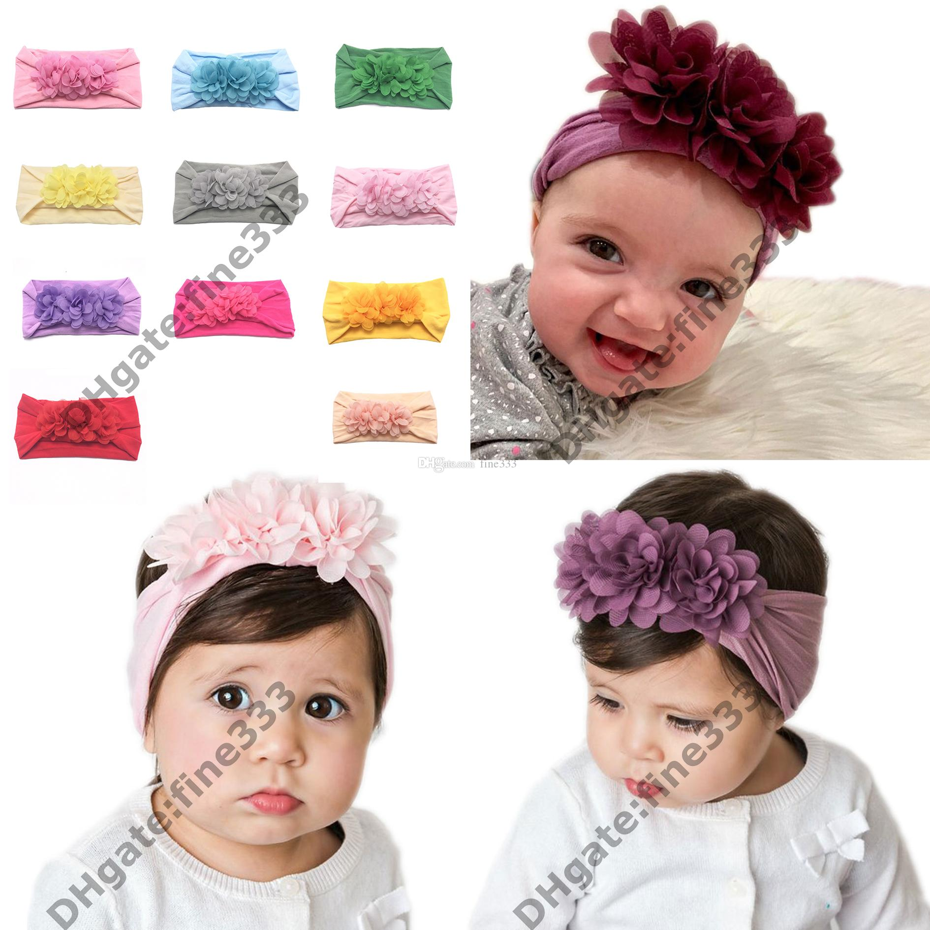 Turban Headband Children Kids DIY Bowknot Headbands Baby Cotton Bow Headwraps Hair Accessories Hair Bands Bandana