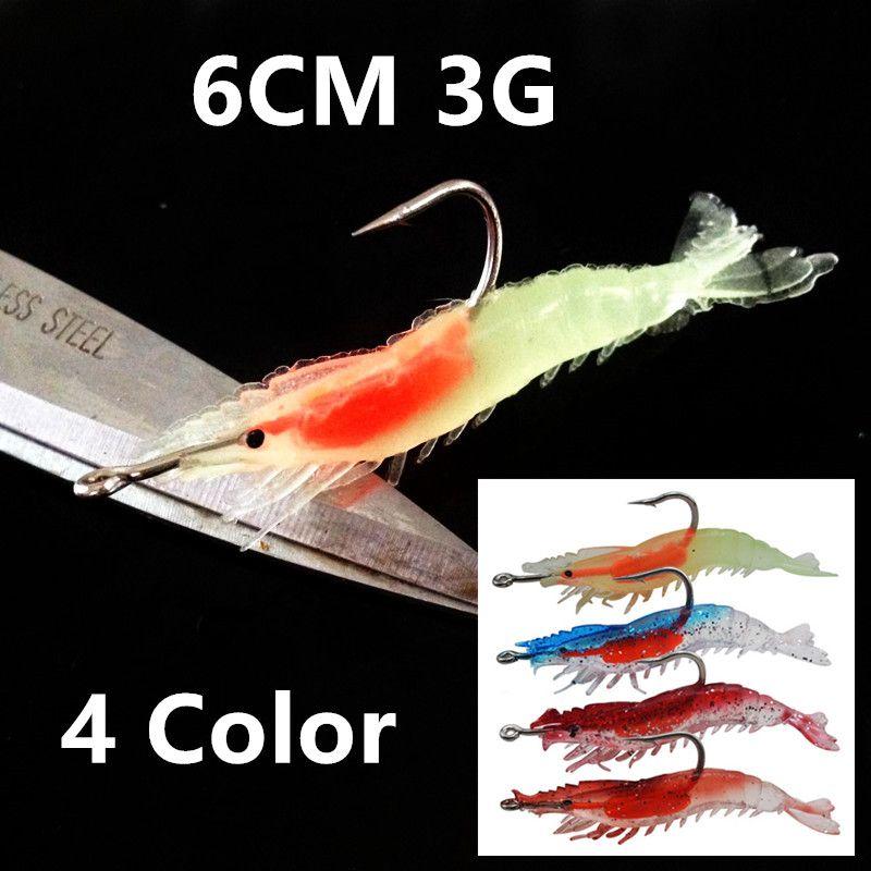 1шт 4 цвета 6 см 3g креветки джиги рыболовные крючки рыболовные крючки один крючок рыболовная приманка мягкие приманки приманки Pesca рыболовные снасти B14_26
