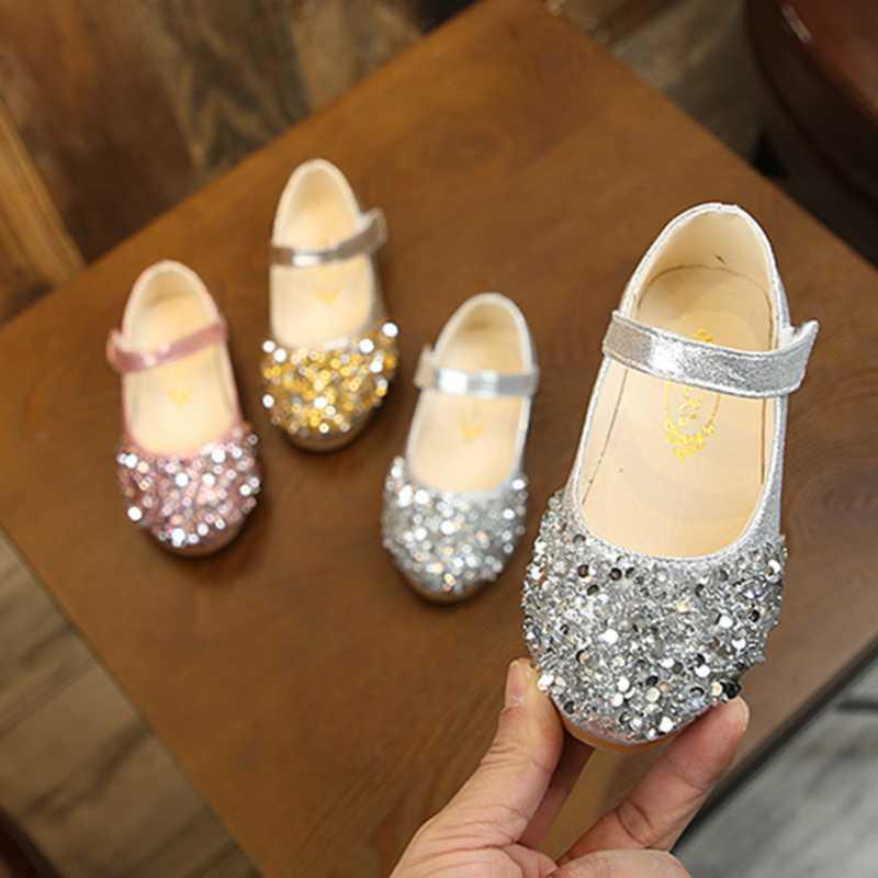 2020 niños del resorte nuevos zapatos de los zapatos de princesa brillo niños bailan bebé Casual Niño de la muchacha sandalias