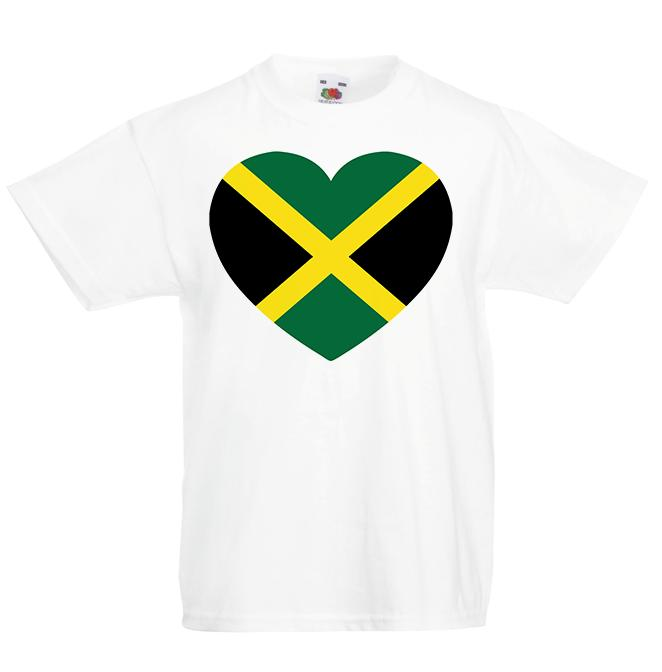 I love Jamaica Kid's T-Shirt Country Flag Map Top Children Boys Girls Unisex Brand shirts jeans Print Classic Quality High t-shirt