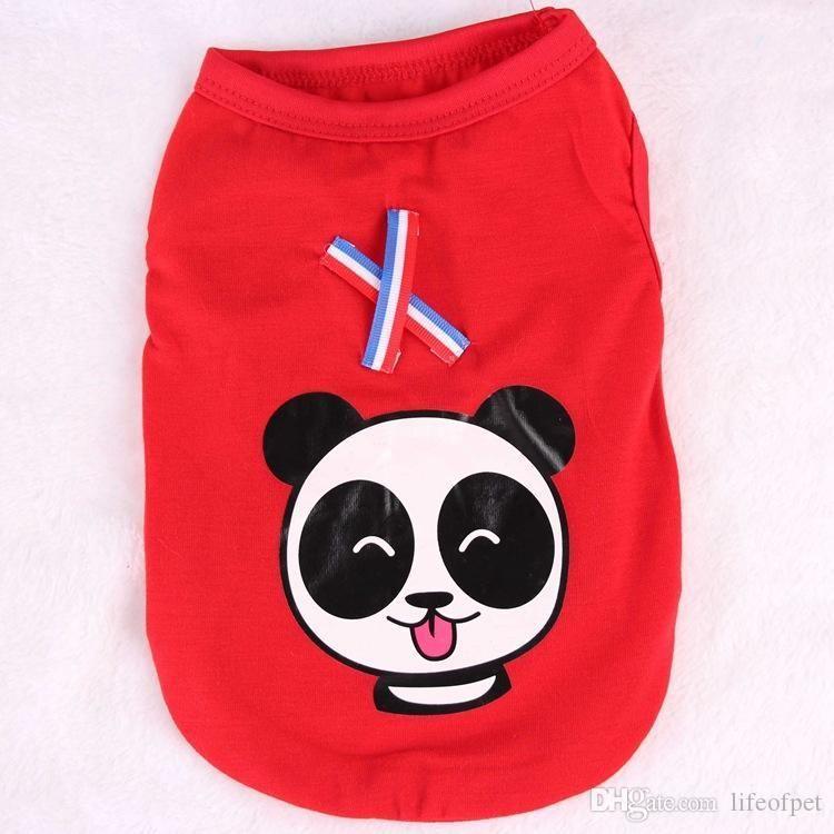 Toptan Yeni Pet Gömlek Yumuşak Pamuk Köpek Giyim Yelek Kedi Yumuşak Bahar Kazak Giyim Köpek Sportwear Sevimli Panda Giyim
