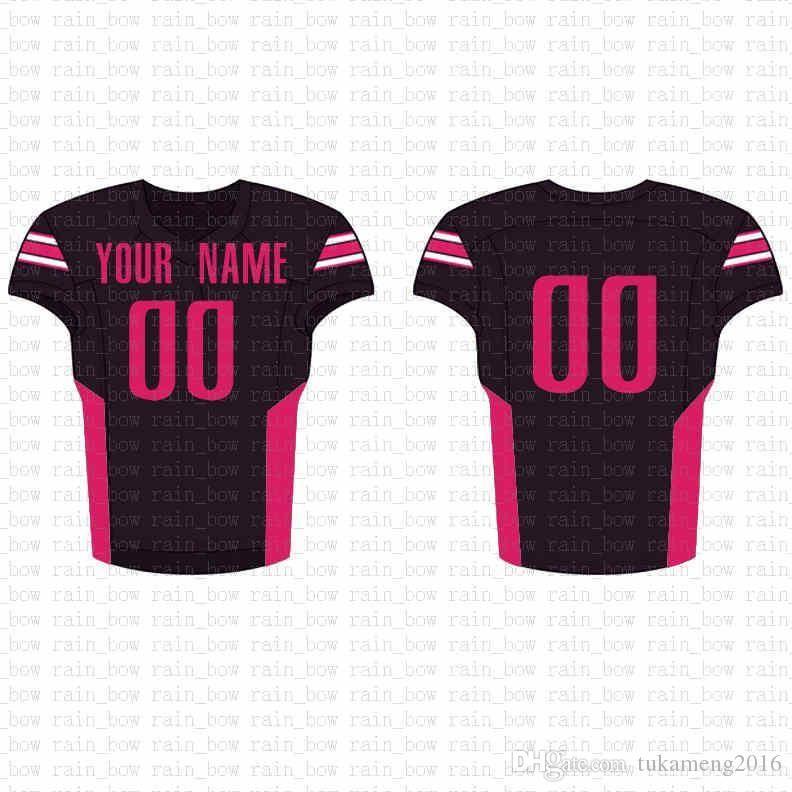 2019 New Custom Football Jersey alta qualidade Mens frete grátis bordado Logos 100% superior costurado venda D26
