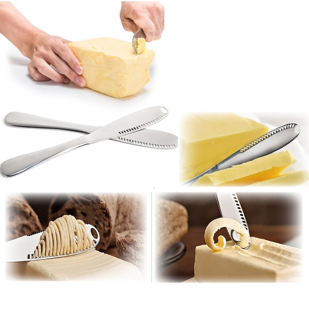 En acier inoxydable meilleur Tartineur - Facile Étaler Cold Hard beurre outils gâteau Accessoires de cuisine Cutter Couteau de cuisine Conseil