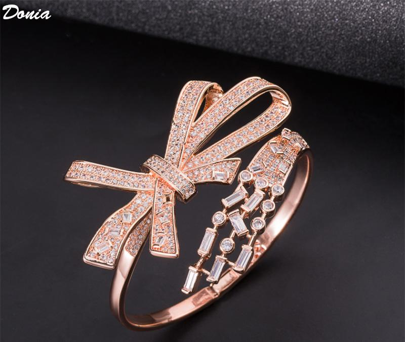 Dona Jewelry Jewelry Party European and American Fashion Card Series Classic Bow Bracciale in zirconi in zirconi in zirconi