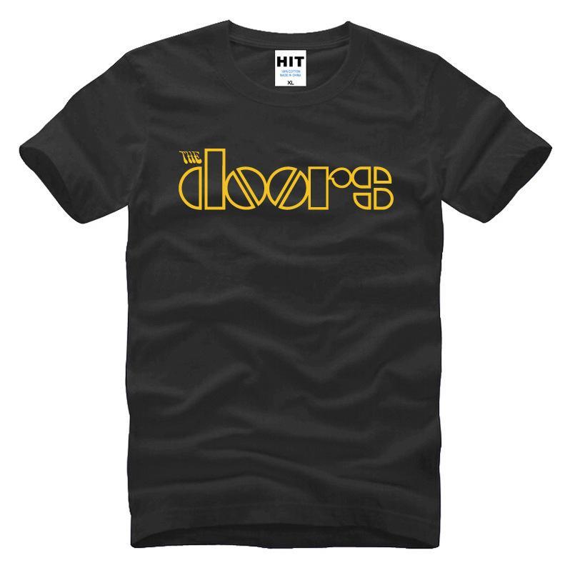 Rock The Doors Мужские футболки Повседневная хлопок Мужские футболки JIM MORRISON Лето с коротким рукавом Хлопковые мужские топы Тис