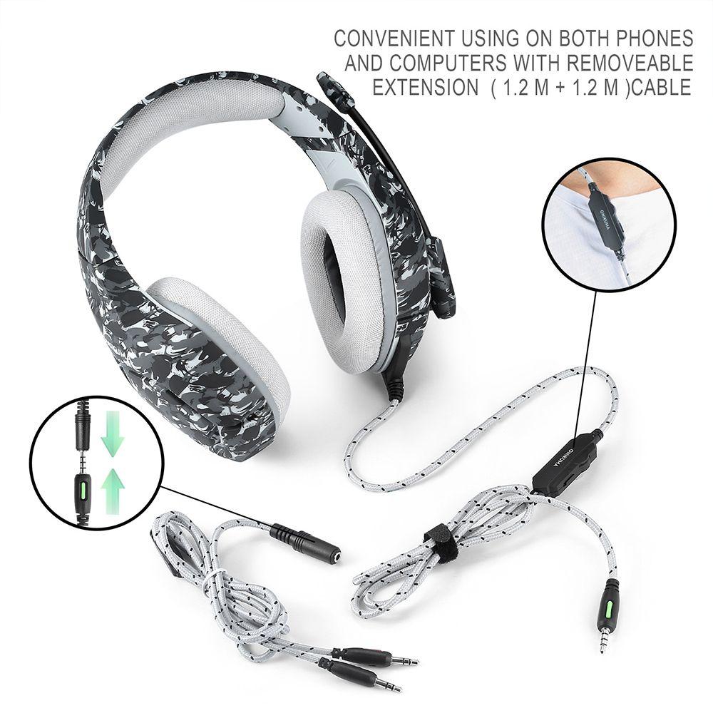 3D estéreo Bass anillo del juego de auriculares Auriculares accesorios de juego para PS4 Nueva Xbox One PC Electronic Sports