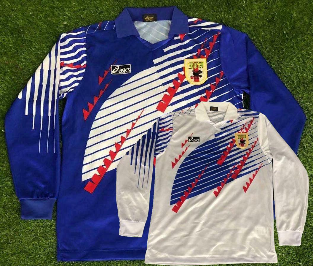 1994 Japan retro Long sleeve soccer jerseys NAKATA home away Classic Vintage football Sports full shirts