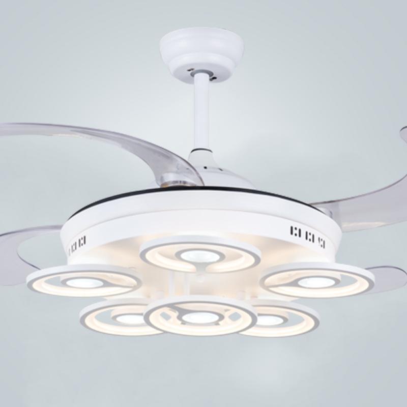 Invisível Luz Do Ventilador De Teto LEVOU Lustre Lâmpada Do Teto Moderna Minimalista Sala de estar Sala de Jantar Sala de estar Fã Lustre