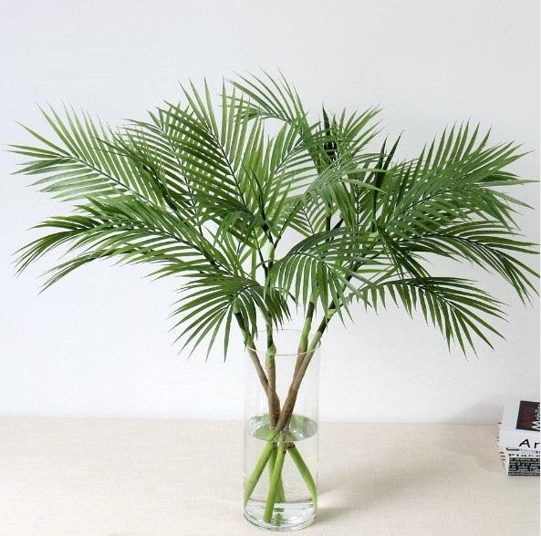 Yapay Ağaç Bitkiler Plastik Şube Tropikal Sahte Kapalı Plastik Bitkiler Ağaç Ev Bahçe Dekor Yok pot