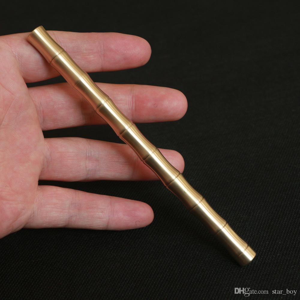 EDC Tactical Pen Handmade Brass Pen Bamboo Type Ball Point Pen Signature Pen UK