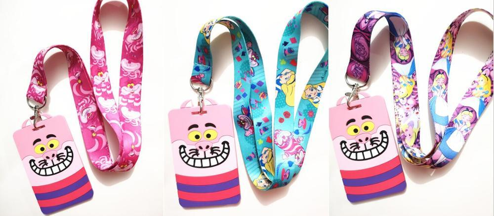 Pink Lanyard with optional Id Card Holder neck strap Identity pass photo badge