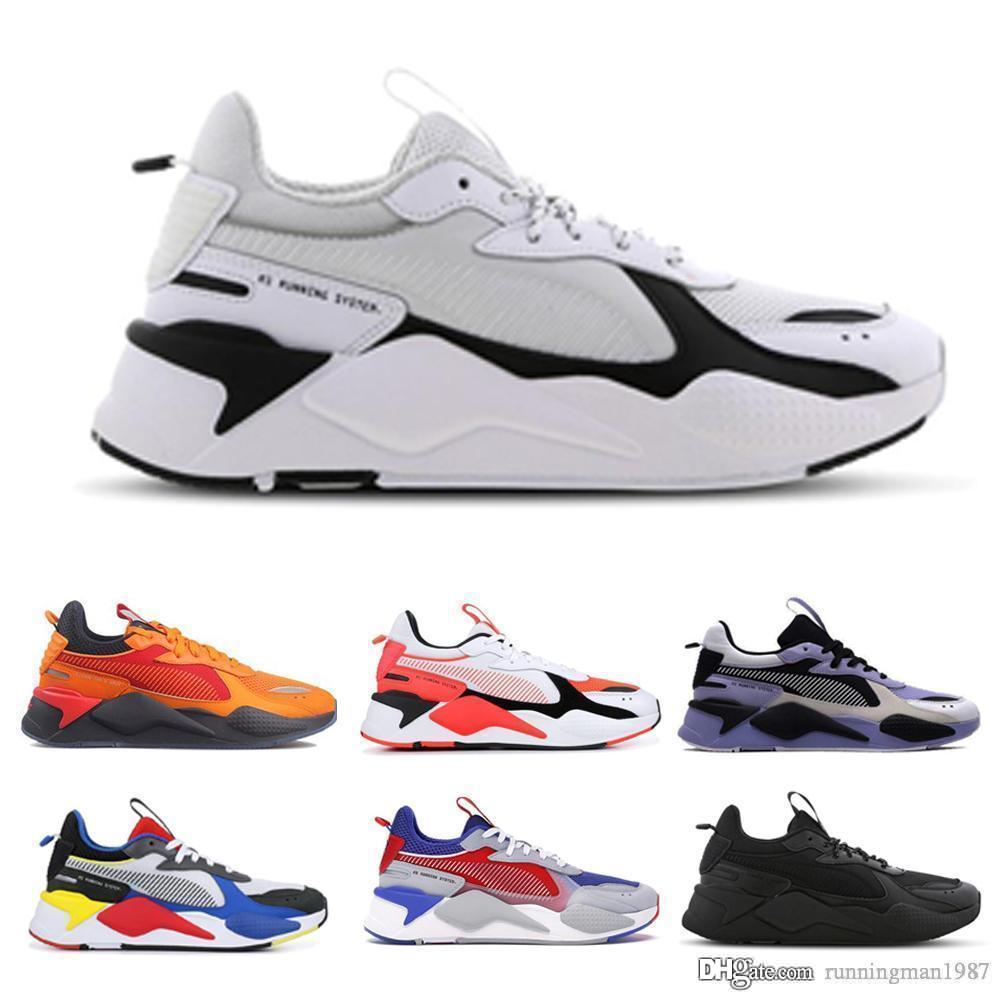 RS-X Reinvention Mens casual Shoes Cool Black white Fashion Creepers dad High Quality Men Women Running Trainer sports Sneakers 36-45