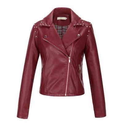 Progettista delle donne Giacche in pelle Womens Coats Ladys marchio solido rivestimento di colore Top Girls stile punk cappotto casuale 2020 Hot Sale