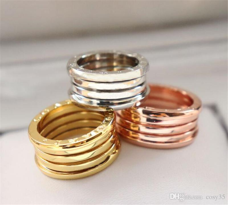 18K plaqué or brillant carré CZ Zircon Bague Lettre pour Femmes Coffret Cadeau de mariage bijoux à la mode avec la boîte
